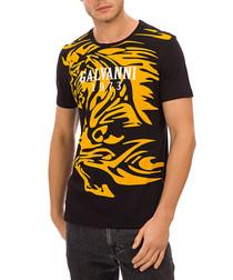 black & amber pure cotton logo T-shirt