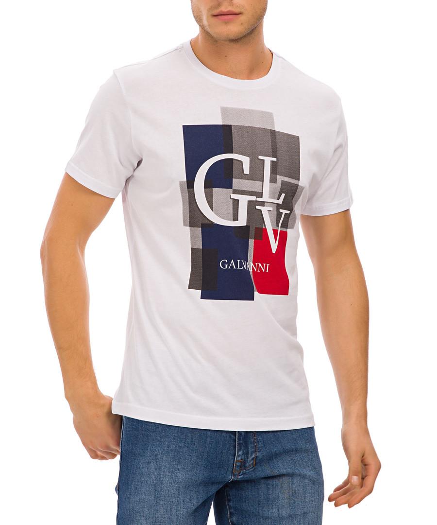 White pure cotton logo T-shirt Sale - galvanni