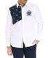 white pure cotton panel shirt Sale - galvanni Sale