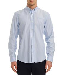 pale blue pure cotton shirt