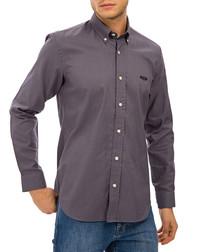 Grey pure cotton sheen shirt