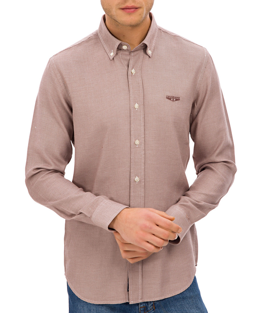 tan pure cotton shirt Sale - galvanni