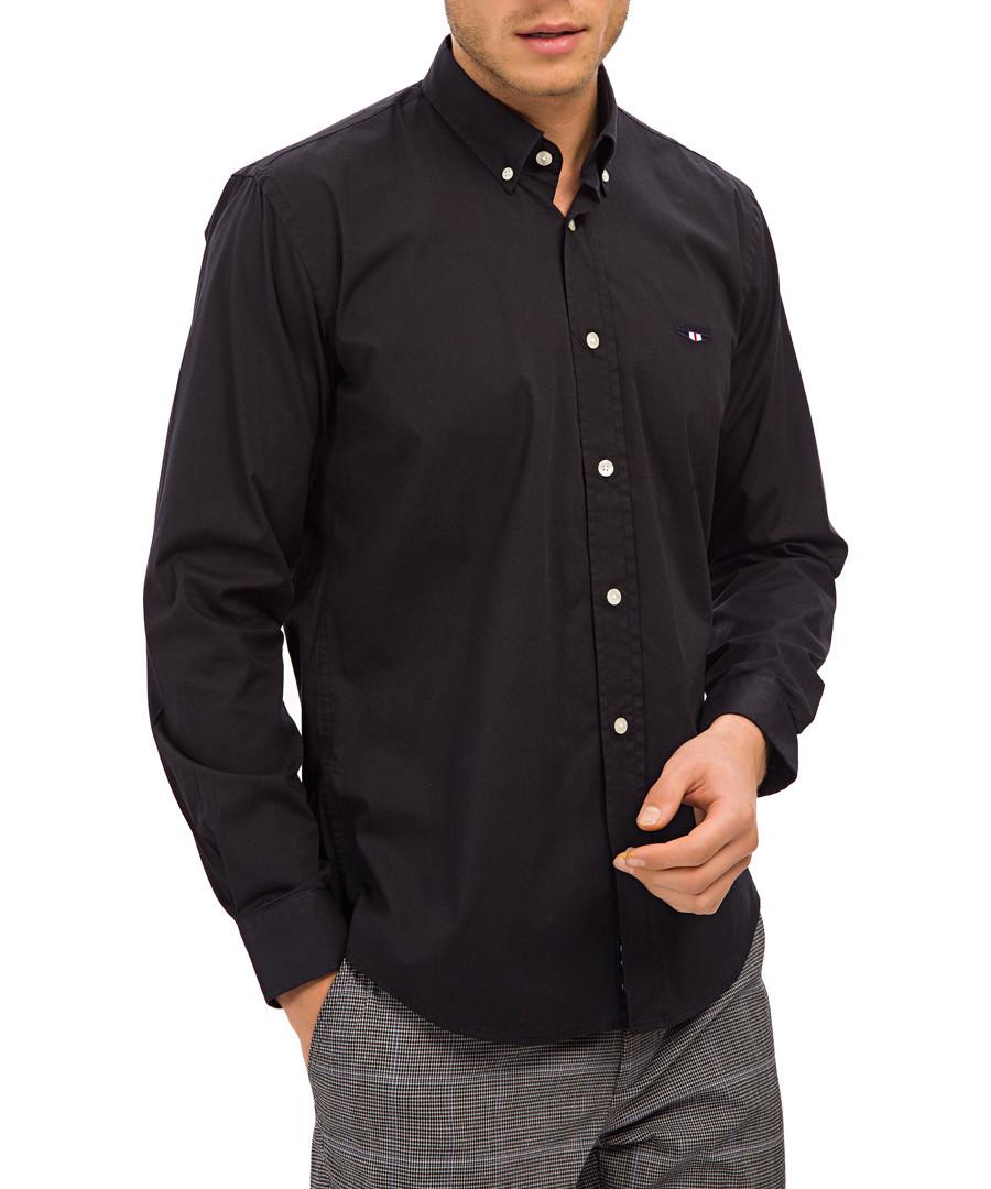 Black cotton stretch shirt Sale - Galvanni
