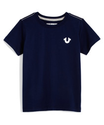navy pure cotton T-shirt