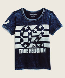 02 dark wash pure cotton T-shirt