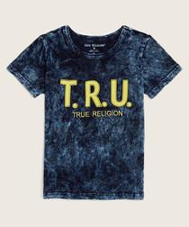 TRU dark wash pure cotton T-shirt