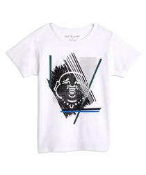 Sketch buddha white pure cotton T-shirt