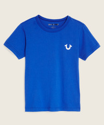 blue pure cotton T-shirt