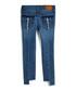 Mid blue cotton split jeans Sale - true religion Sale