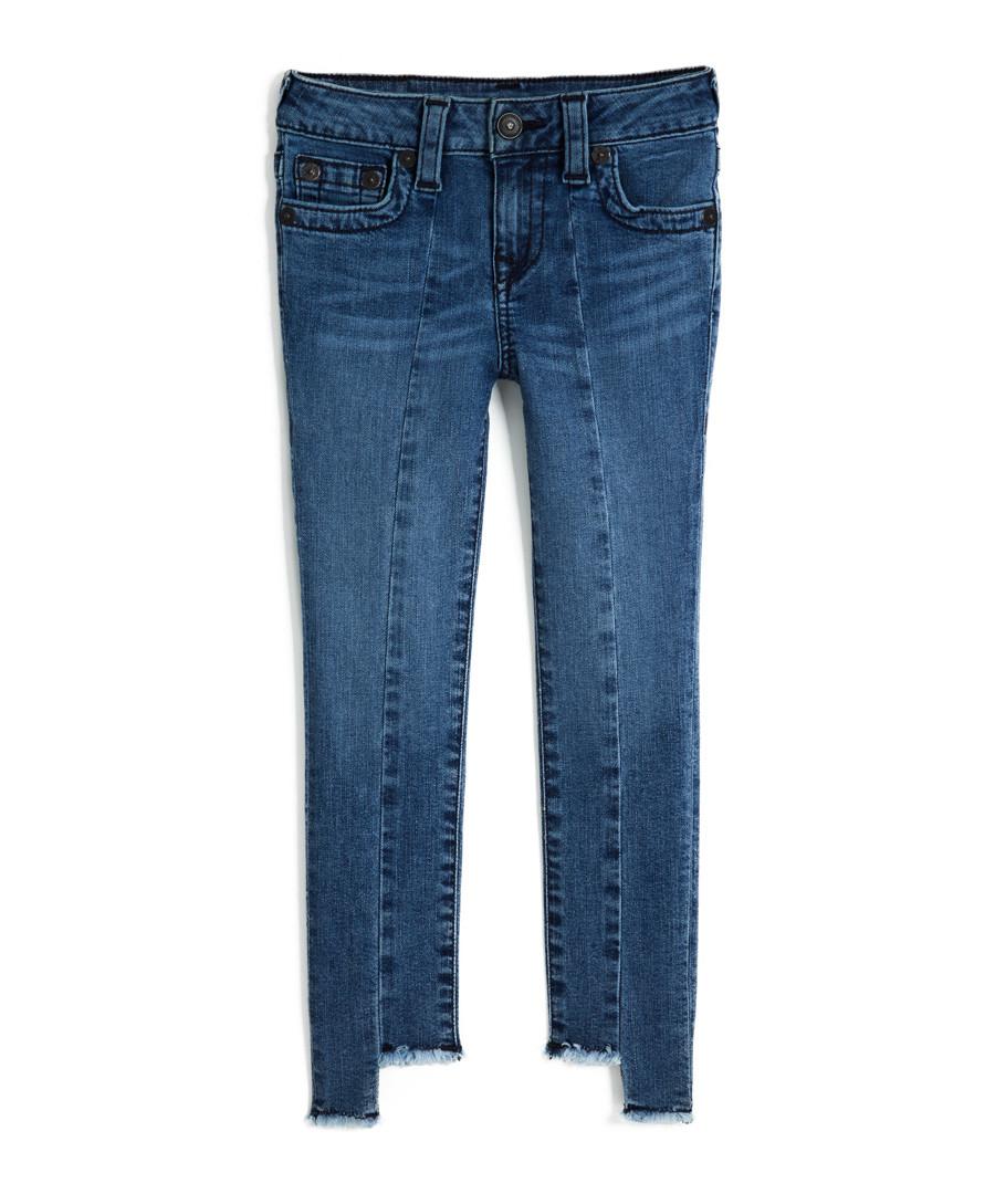 Mid blue cotton split jeans Sale - true religion