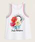 Girls' white floral pure cotton vest Sale - True Religion Sale