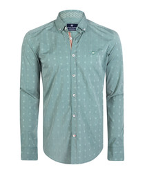 Sage pure cotton long sleeve shirt