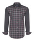 grey & red check pure cotton shirt Sale - felix hardy Sale