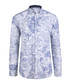 blue & white floral pure cotton shirt Sale - felix hardy Sale