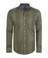 Olive green check pure cotton shirt Sale - felix hardy Sale