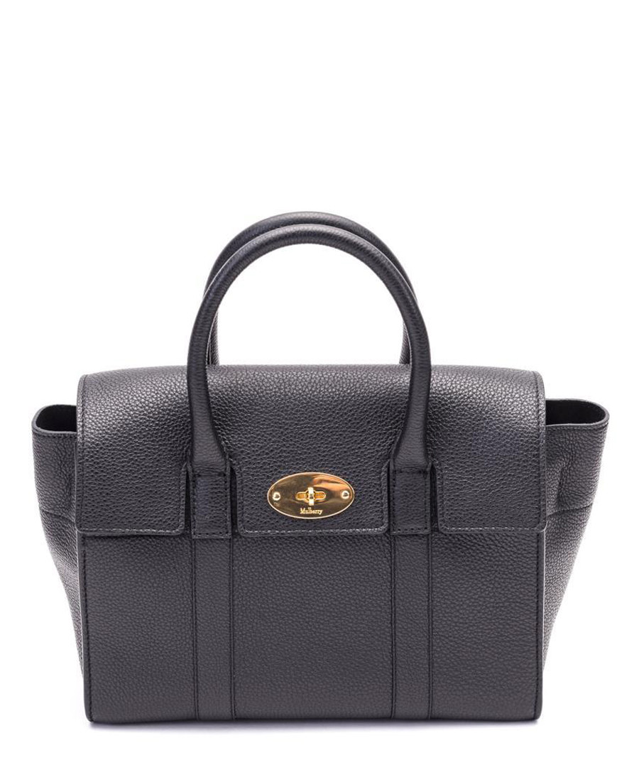 Small Bayswater black leather bag Sale - MULBERRY