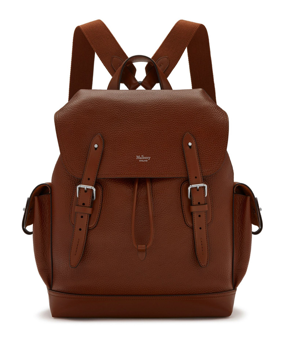 Heritage oak leather backpack Sale - mulberry