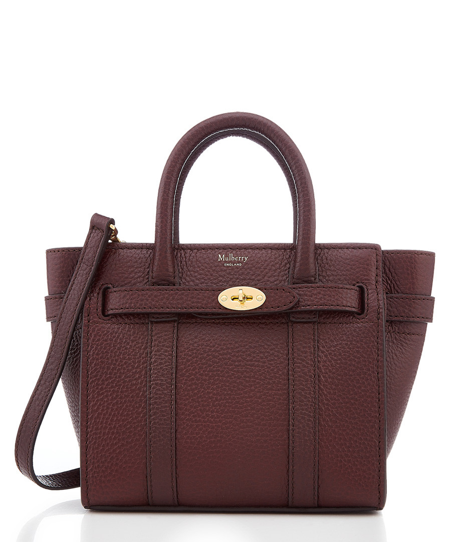 Bayswater oxblood leather bag Sale - mulberry