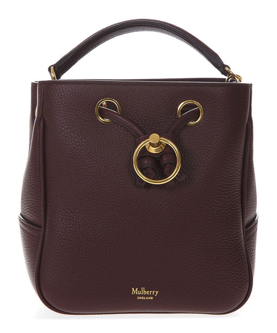 Burgundy leather bucket bag Sale - mulberry