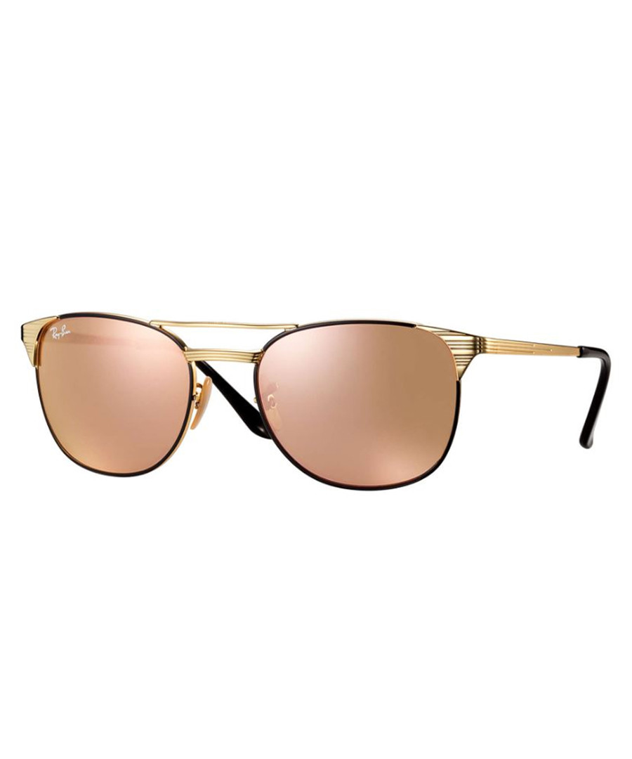 double bridge gold-tone sunglasses Sale - Ray Ban
