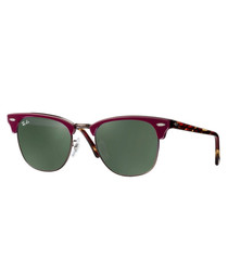 clubmaster burgundy sunglasses