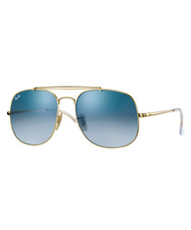 general gold-tone & blue sunglasses