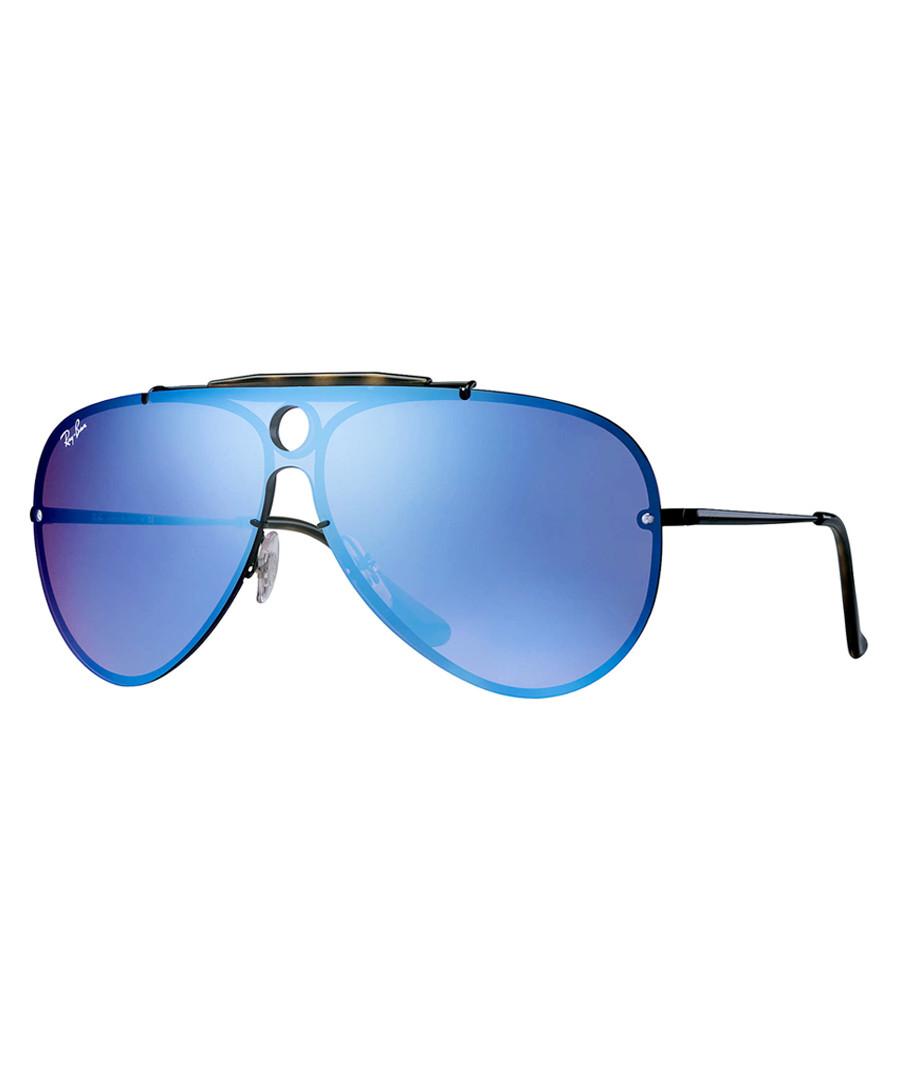 blaze shooter black & violet sunglasses Sale - ray-ban