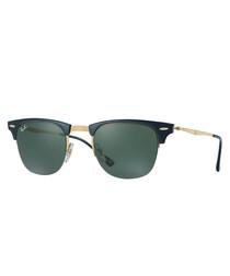 Clubmaster black & gold-tone sunglasses