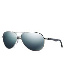 gunmetal  & blue sunglasses