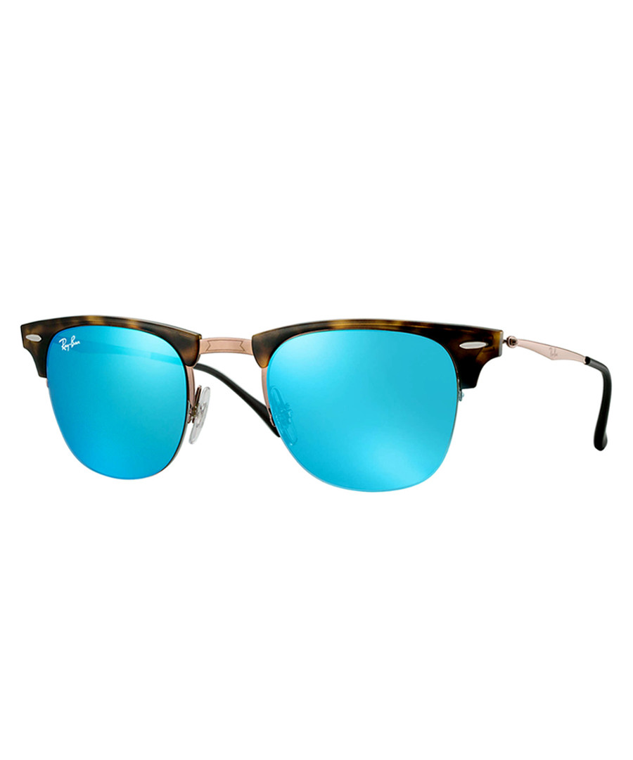 Blue lens clubmaster sunglasses Sale - Ray Ban