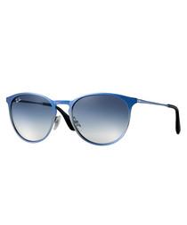 erika metal blue & light blue sunglasses
