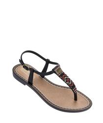 Acai black aztec fabric sandals