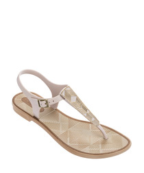 Romantic ivory thong sandals