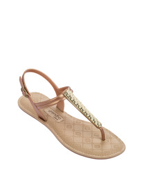 Sense gold-tone sandals