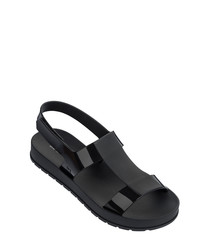 Ever black rubber sandals
