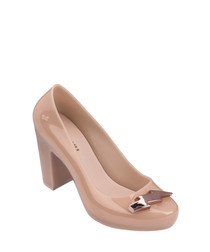 Fever old rose rubber mid heels