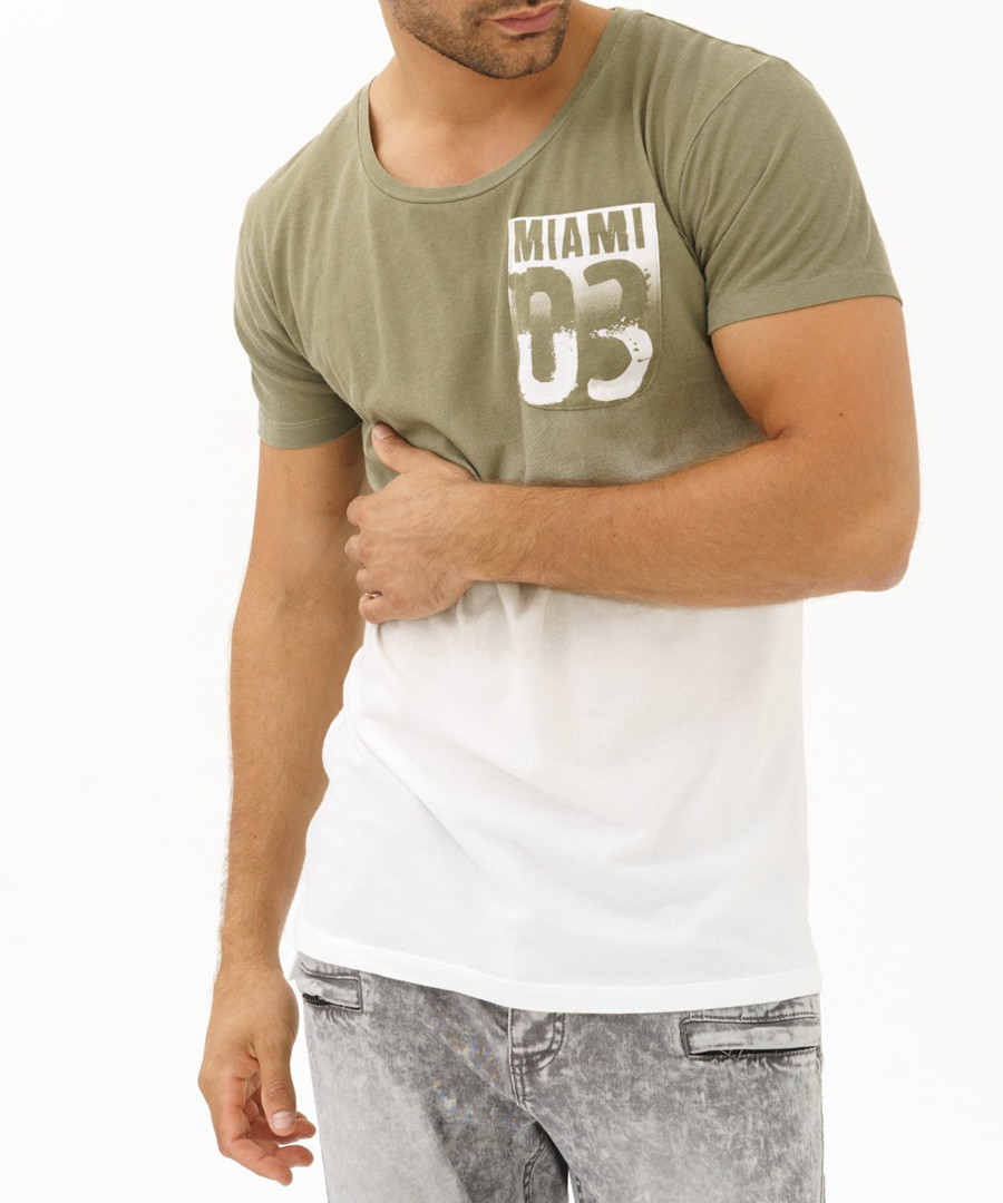 miami khaki pure cotton T-shirt Sale - true prodigy