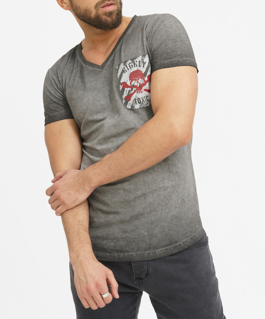 grey skull pure cotton T-shirt Sale - true prodigy