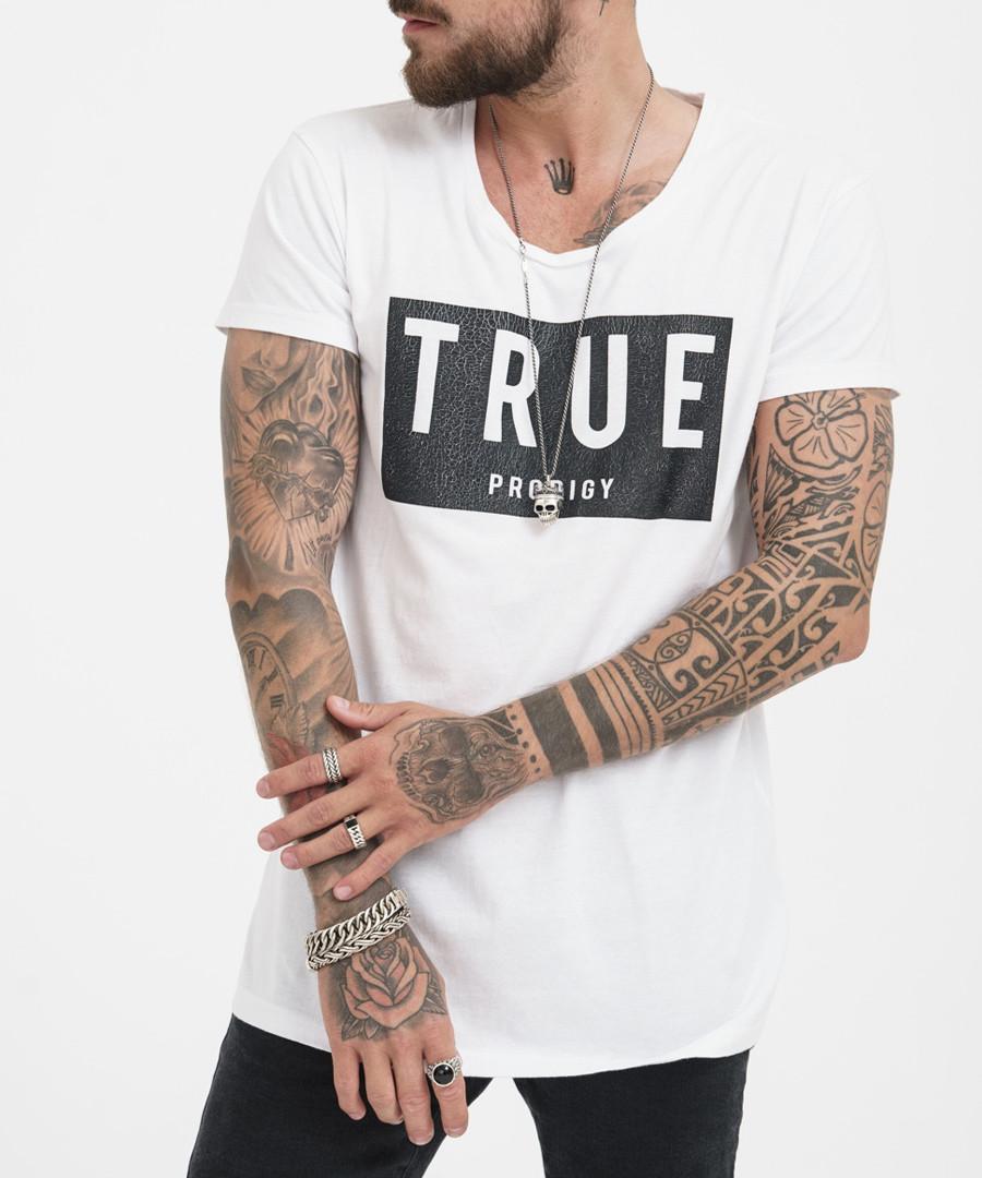 white pure cotton logo T-shirt Sale - true prodigy