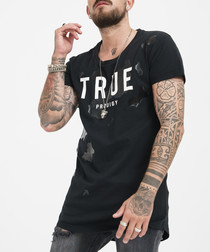 black pure cotton logo T-shirt