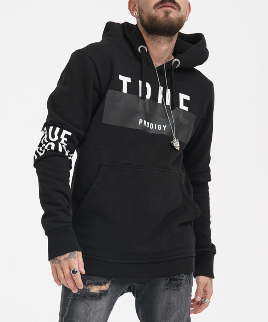 black pure cotton band logo hoodie Sale - true prodigy