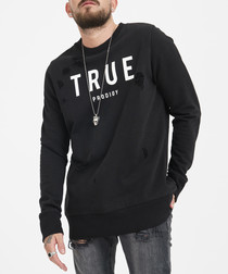 black pure cotton jumper