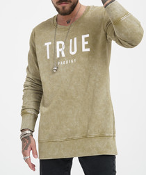 khaki wash pure cotton jumper