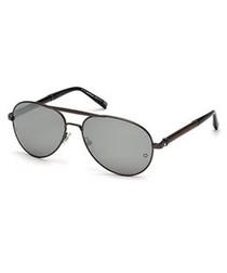 black metal pilot sunglasses
