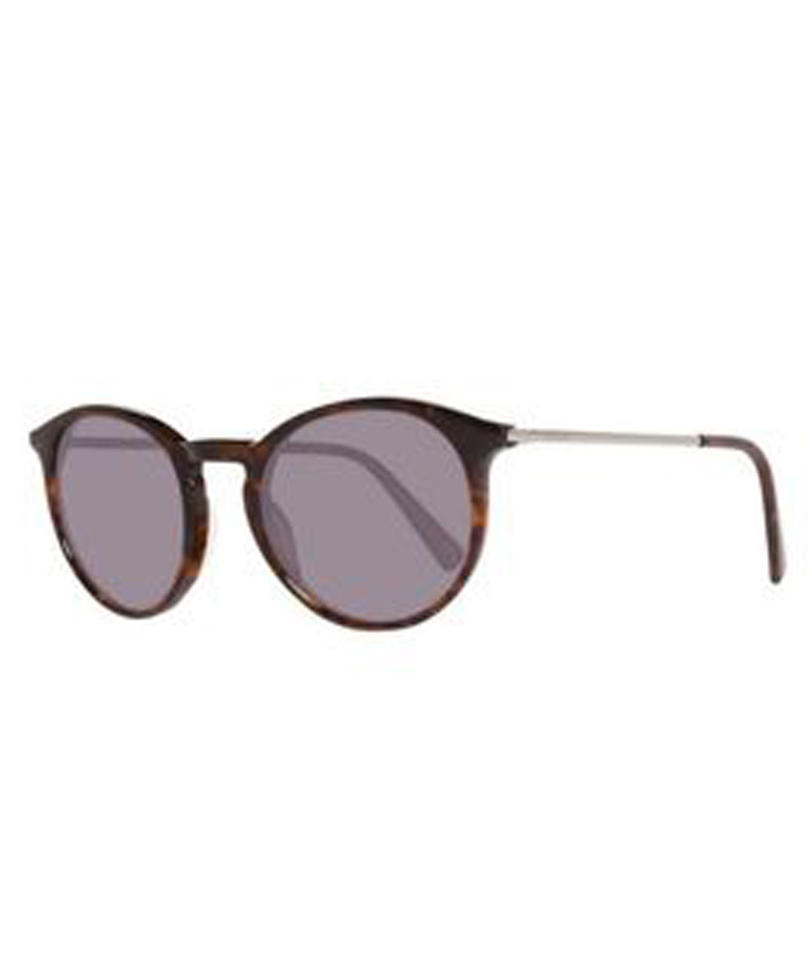 brown rounded D-frame sunglasses Sale - montblanc