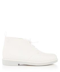 baja white desert boots