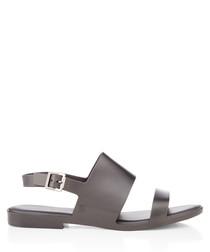 Classy black strap sandals