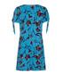 marine blue floral sleeve tie dress Sale - yumi Sale