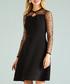 black sheer sleeve dress Sale - yumi Sale