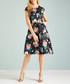 black floral sleeveless skater dress Sale - yumi Sale